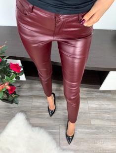 Nahksed bordoo püksid