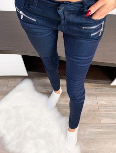 Tumesinised teksapüksid