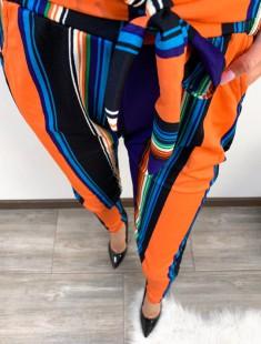 Kõrge pihaga & vööga vabaaja püksid