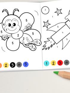 Prinditav 8 leheline- õpi numbreid ja värve