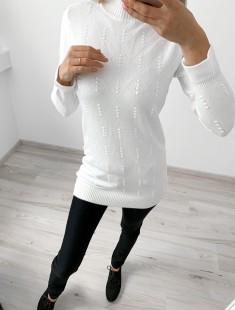 Mustriga pikem pullover