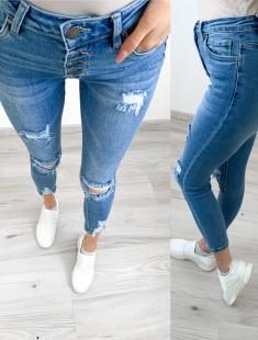 Kõrge pihaosaga stretšid teksapüksid